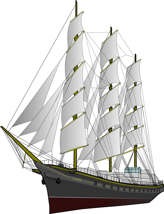 Sail ship png. Yacht old boat clipart