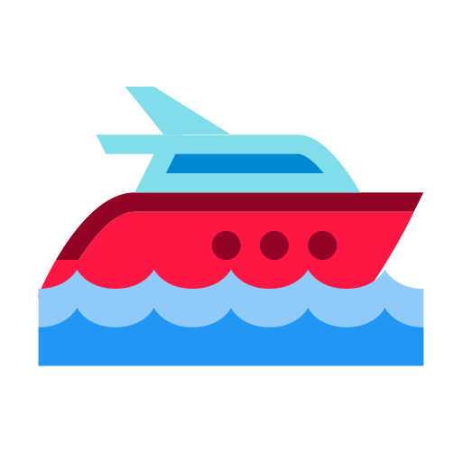 Transport boat icon and. Yacht png water transportation vector