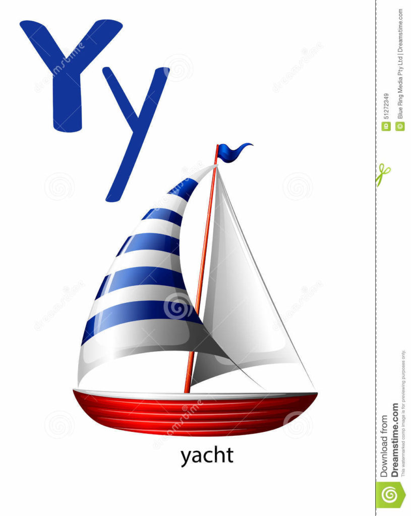 Yacht clipart yatch. Letter y white background