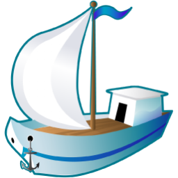 Yacht png cartoon. Sailing ship icon transport