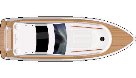 Yacht png top view. Topdown sprite by tdeleeuw
