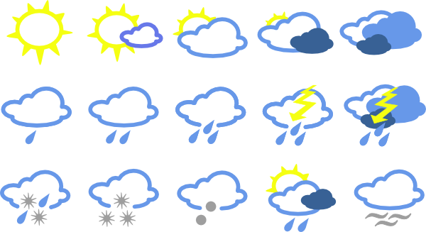 Weather symbols . Air clipart cold climate image royalty free library