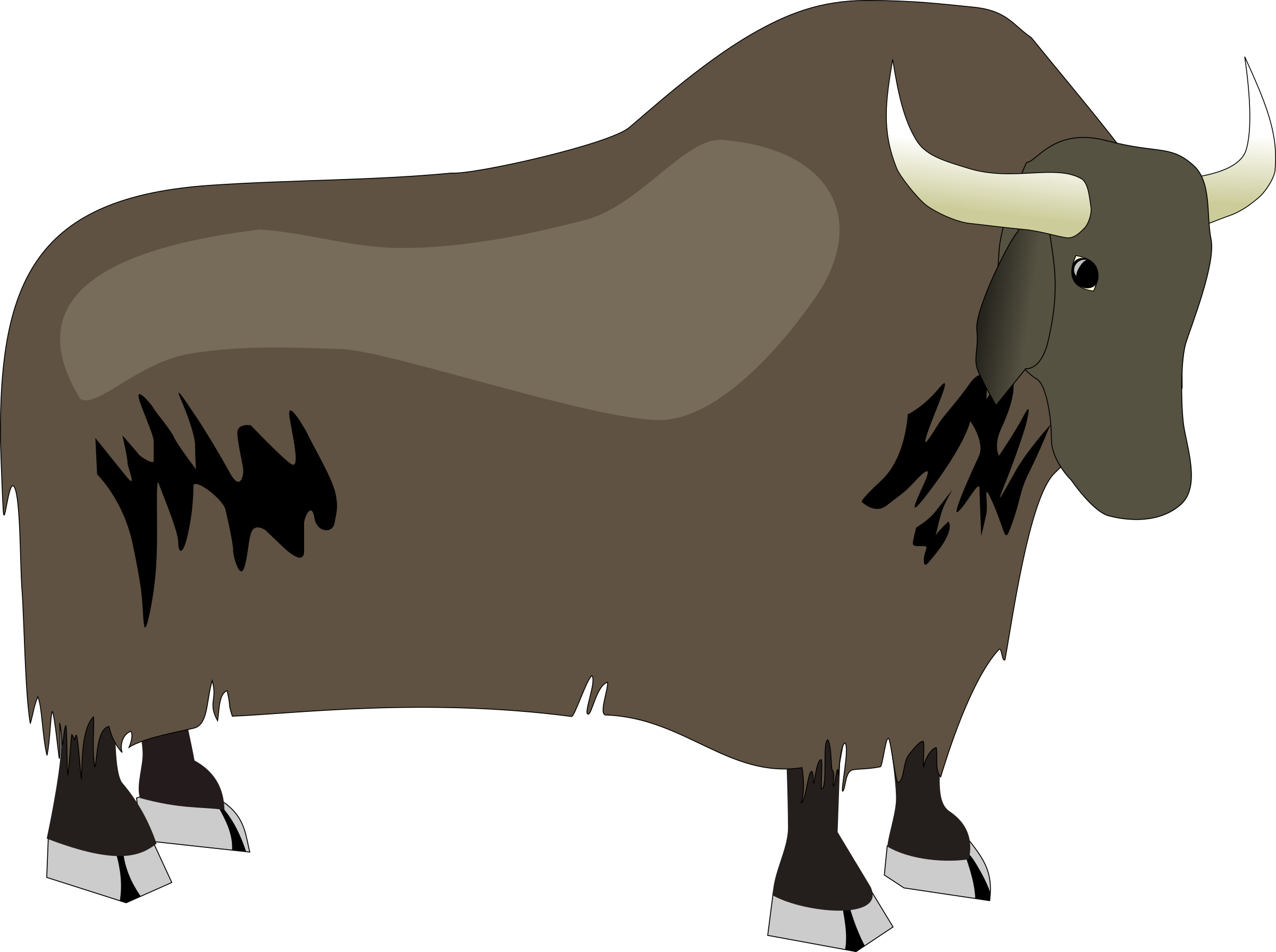 Ox vector drawing. Clipart yak big image