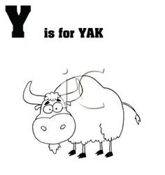 Yak clipart black and white. Clip art yahoo image