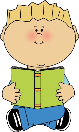 For her clipart reading. Clip art images boy