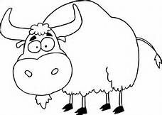 Yak clipart outline. Clip art black and