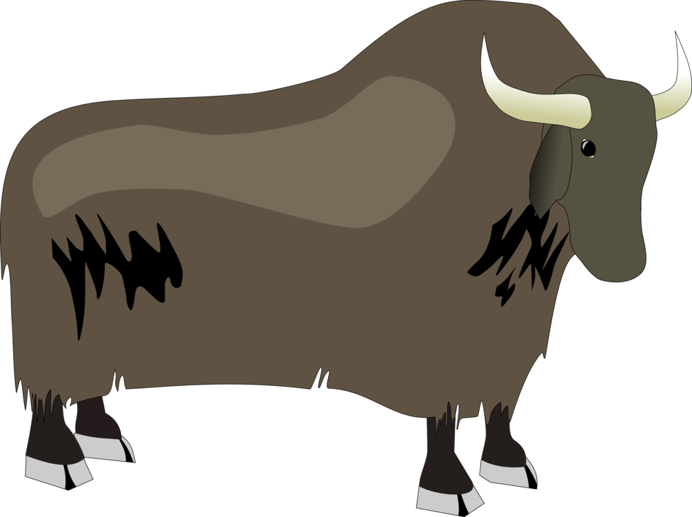 Yak clipart tree. Domestic american bison download