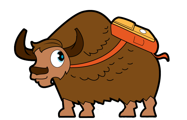 Yak clipart yack. Forum backpackyack logo
