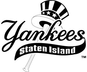 Yankees vector silhouette. New york logo eps