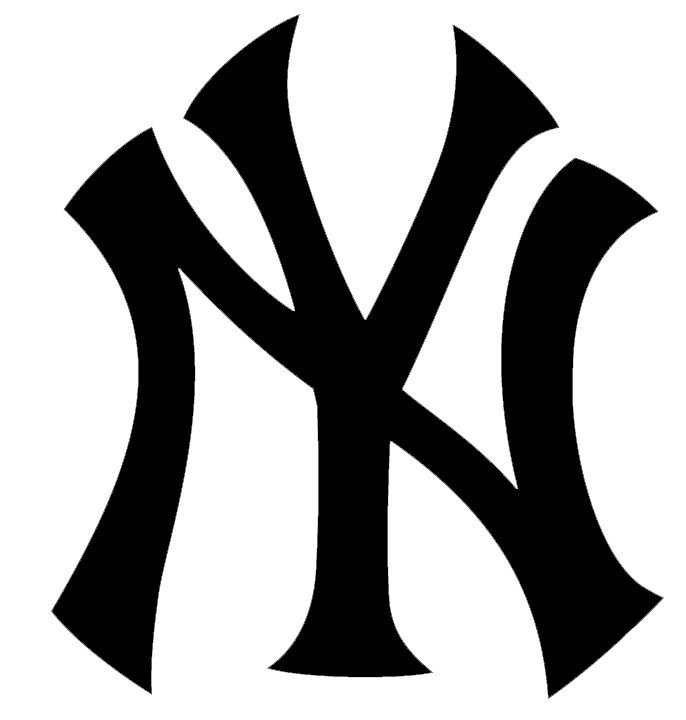 Yankees vector silhouette. Lets cut something yankee