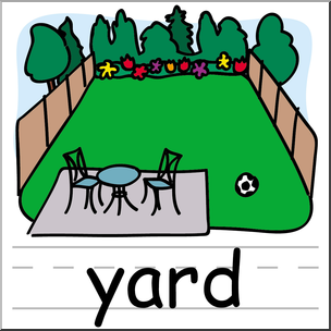 Clip art basic words. Yard clipart picture free library
