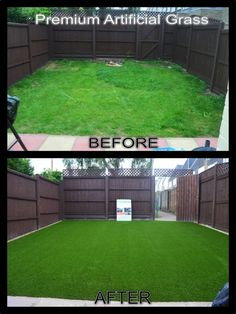 Yard clipart astroturf. Before and after theturfwarehouse