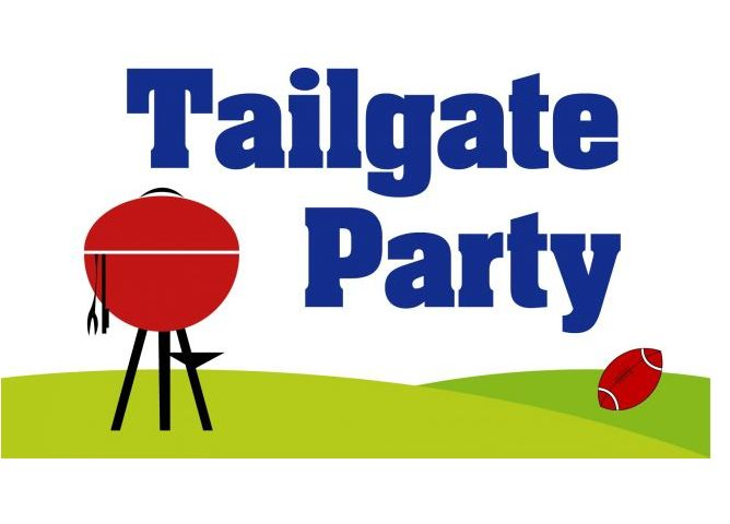 Yard clipart football tailgate. Party blue earth area