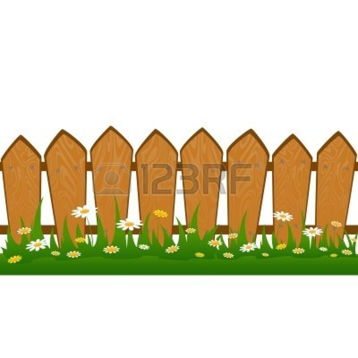 Yard clipart tall fence. Lawn fenced pencil and