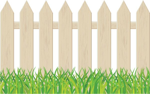 Yard clipart tall fence. Backyard pencil and in