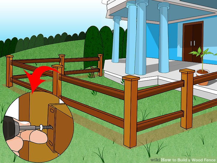 Yard clipart tall fence. How to build a