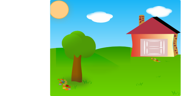 Yard clipart transparent. Backyard with house moved