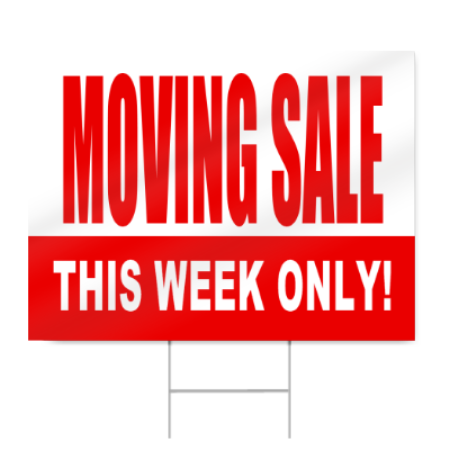 Yard sale sign png. Moving signstoyou com in