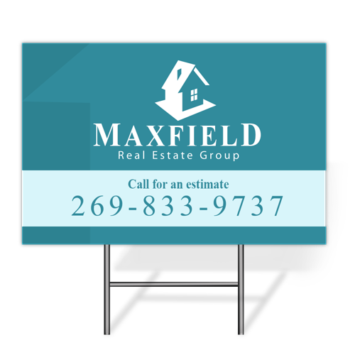 Yard sign png. Printing high quality low