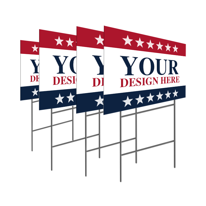 Yard sign png. Election campaign promotional signs