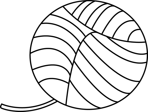 Yarn ball png. Black and white transparent