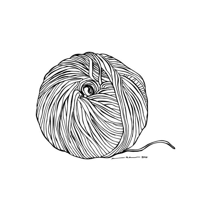 Yarn clipart ball twine. How to draw a