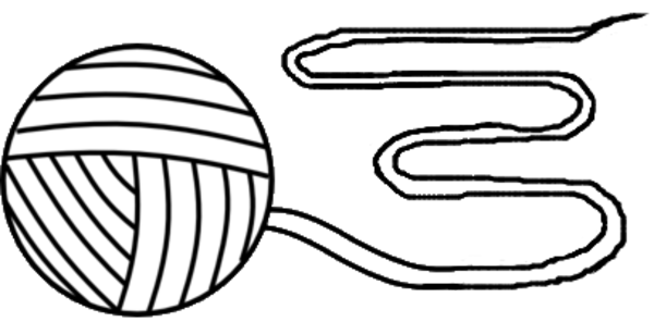 Yarn clipart ball twine. Of outline md free