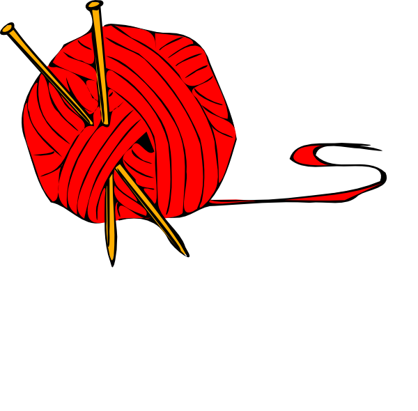 Yarn string png. Red ball clip art