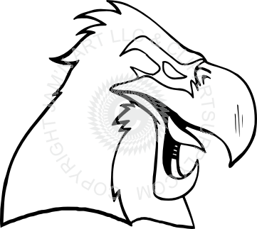 Yawn clipart black and white. Eagle yawning