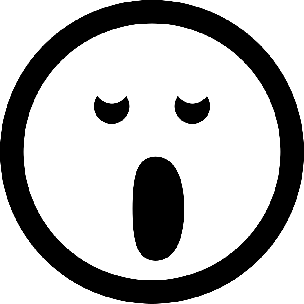 Yawn clipart cover mouth. Yawning emoticon face in