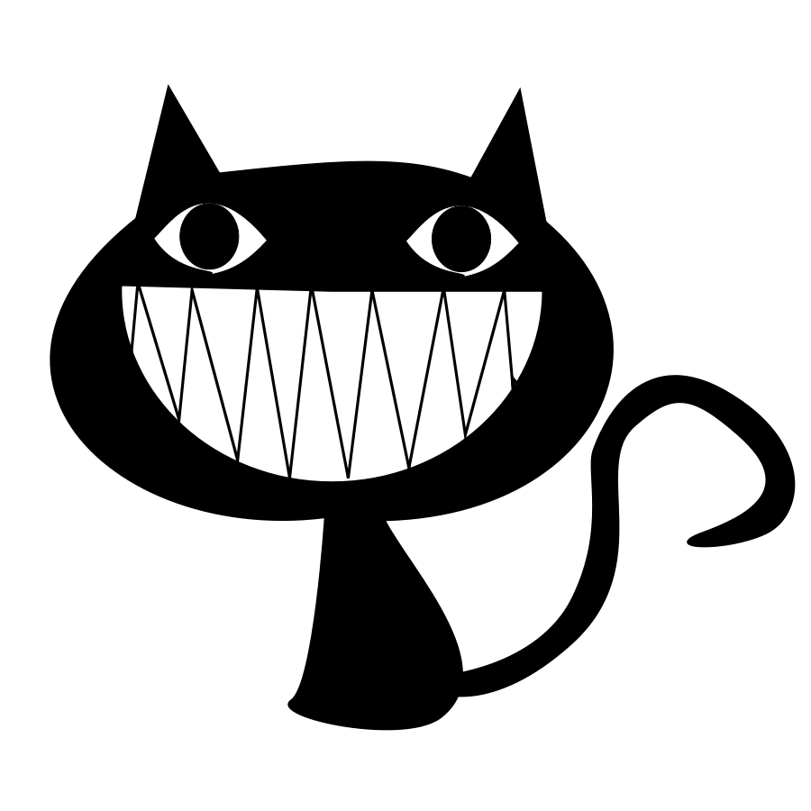 Yawn clipart cover mouth. Cat smile medium pixel