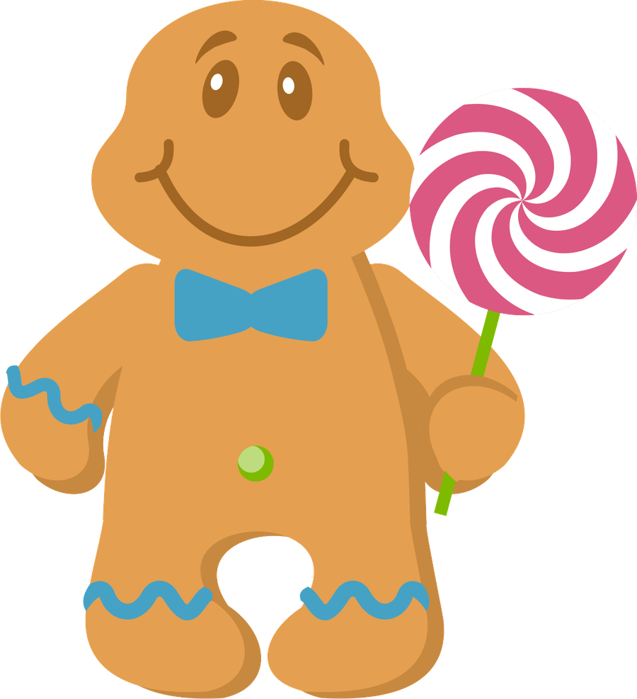 Yay clipart cheerful person. Christmas gingerbread man clip