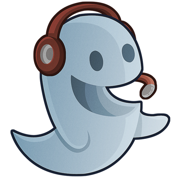 Yay clipart cheerful person. Ghost reviews a new