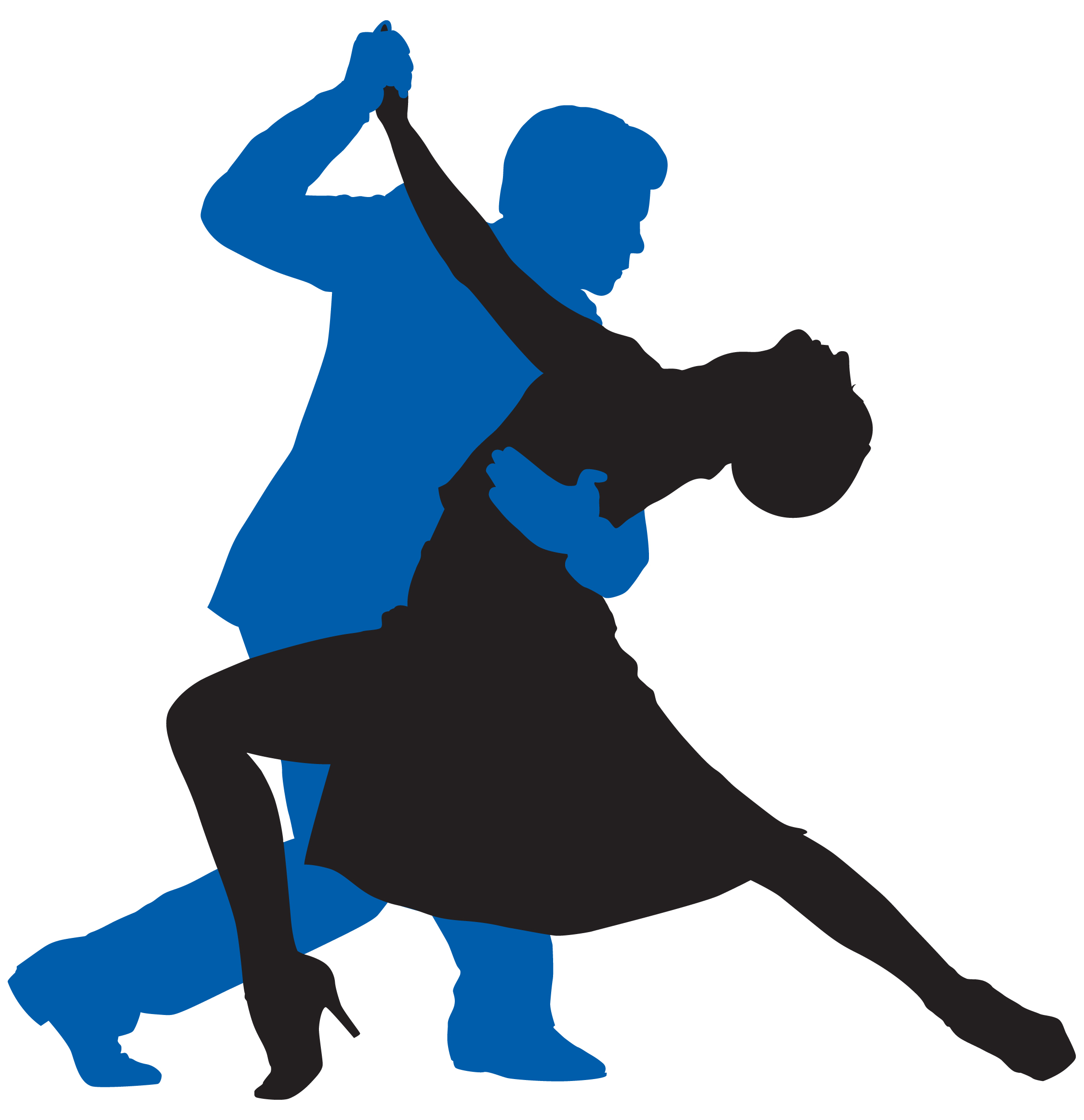 Yay clipart dance. Dancing silhouette image at