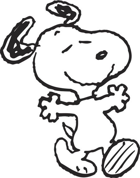 Yay clipart dance. Snoopy black white pinterest