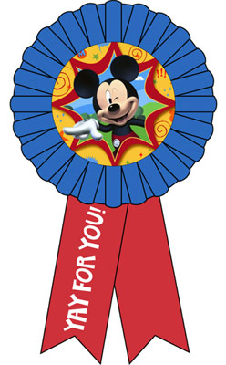 Yay clipart mickey mouse. For you award ribbon