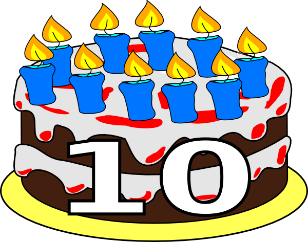 Year clipart 10 year. Free th anniversary cliparts