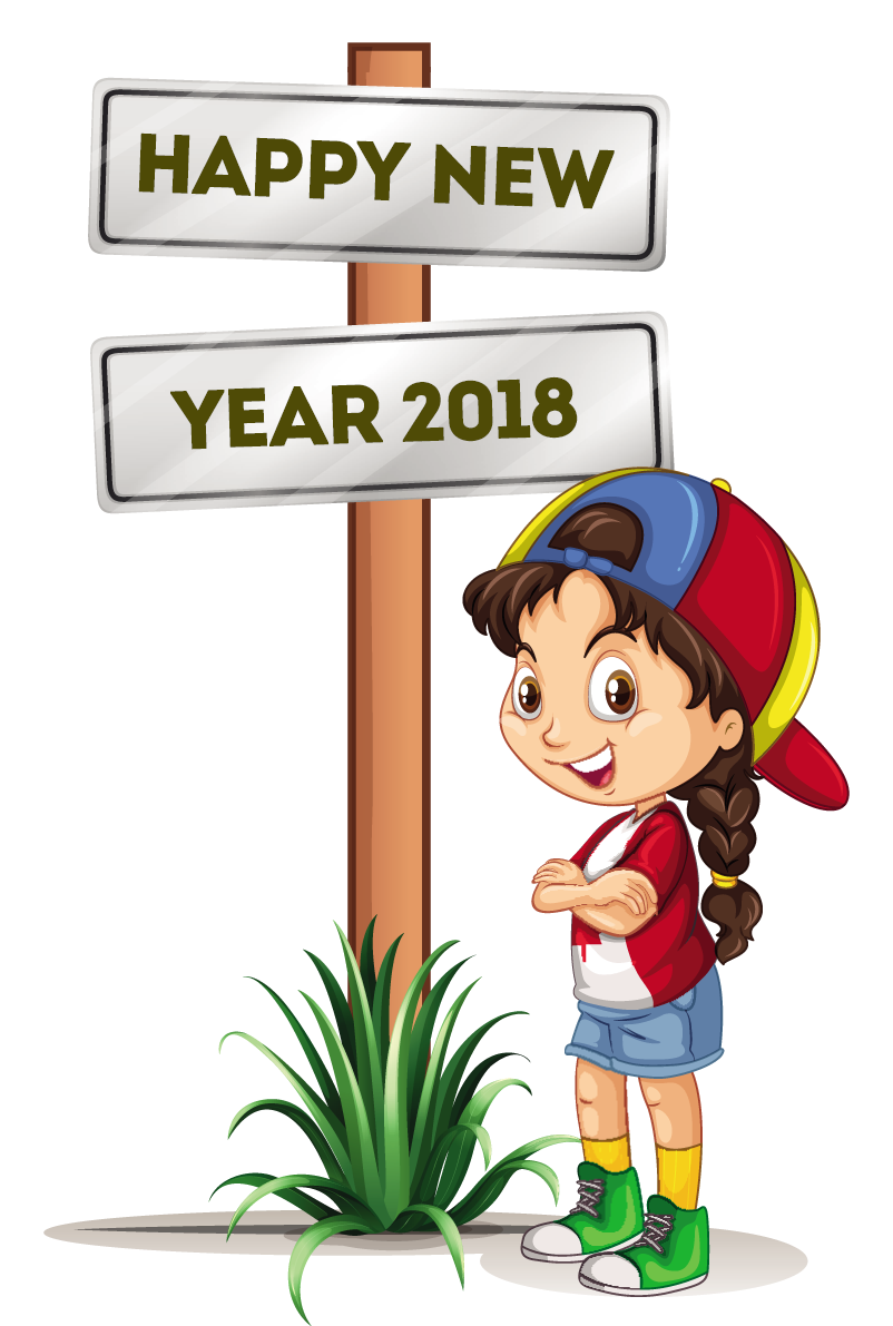 Year clipart 2018clipart. Happy new clip art