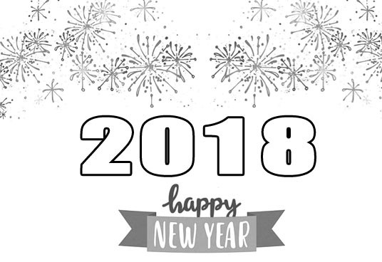 Year clipart black and white. Collection of new