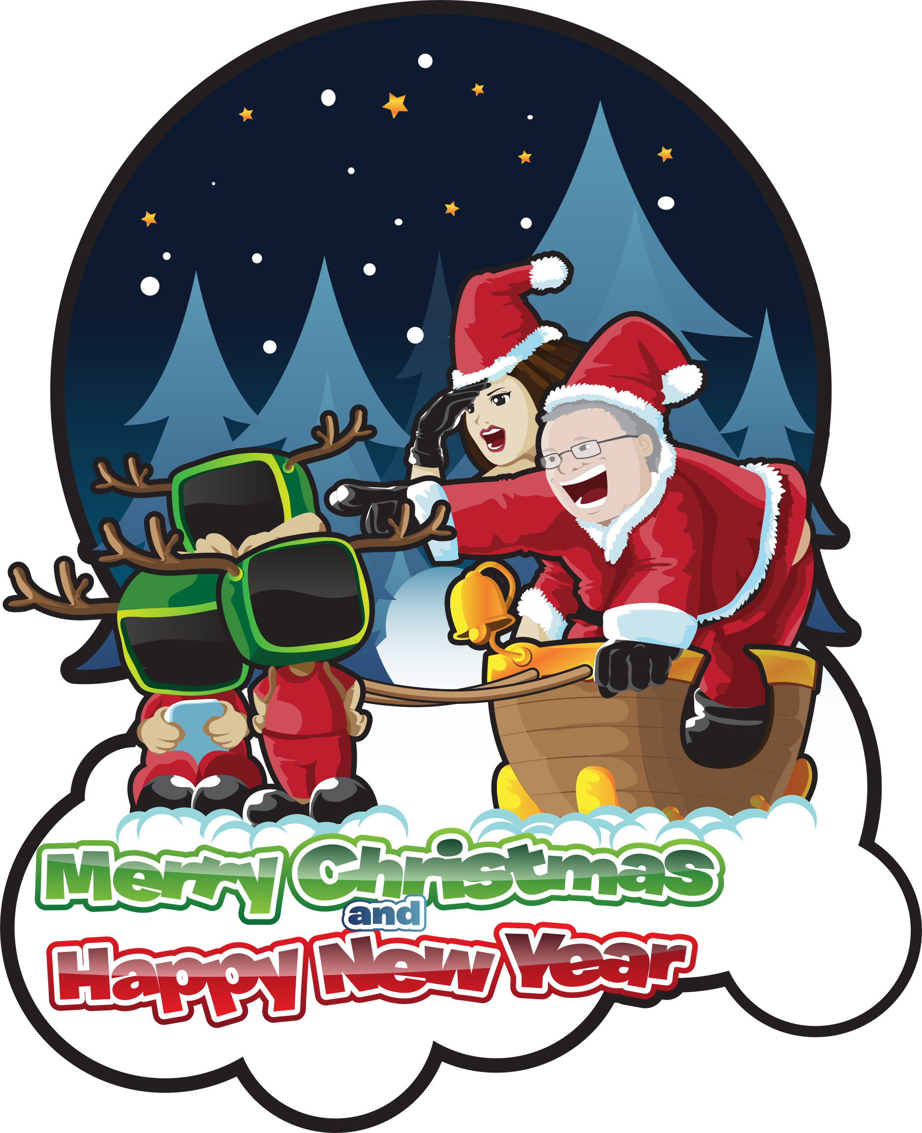 vector snowman happy new year clipart merry christmas and image freeuse library