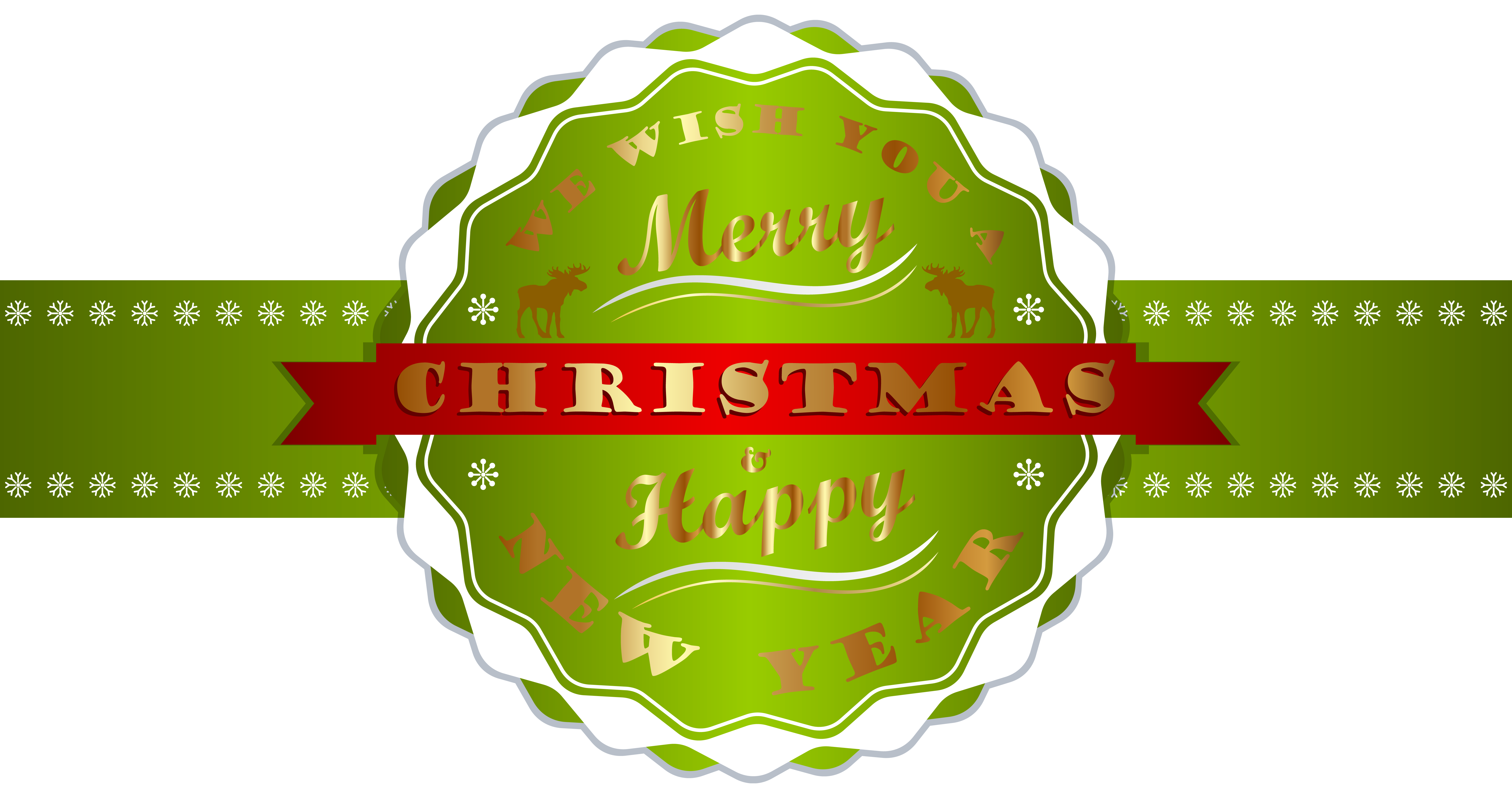 Year clipart christmas. Merry and happy new