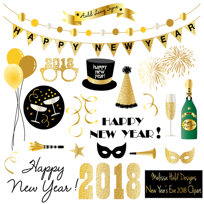 Year eve clipart. New s mygrafico years