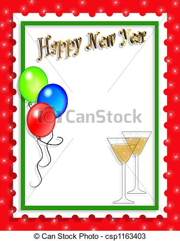 new years party illustration year eve clipart border clip art transparent download
