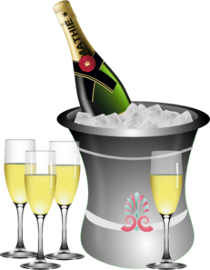 Year eve clipart champagne. New s celebration clip