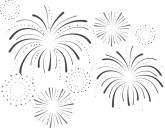 Year eve clipart fireworks. New years graphics images
