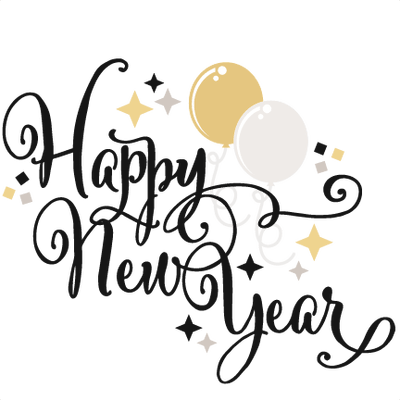 New year clip art png. Happy years eve balloons