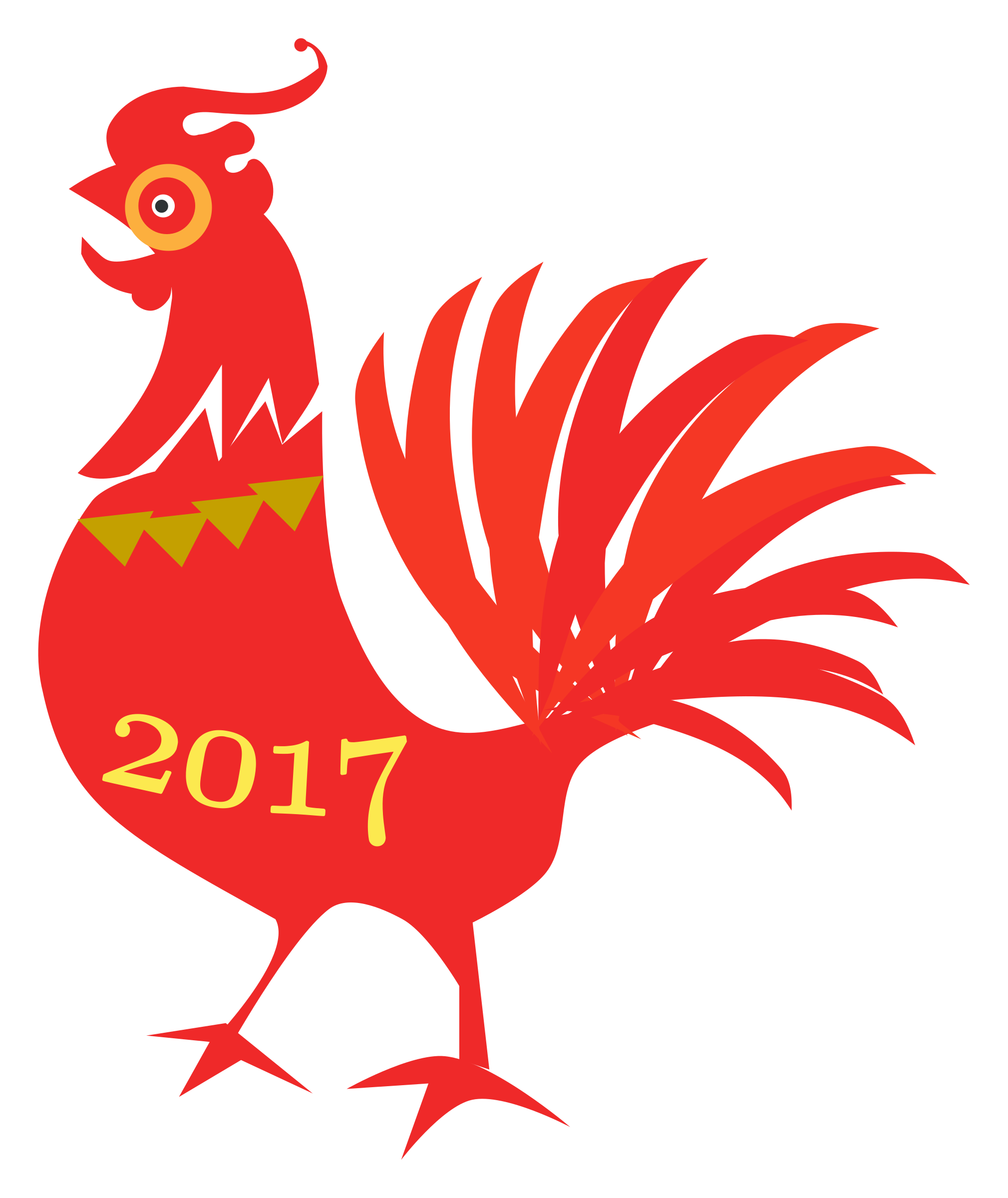 Transparent rooster chinese new year. Clipart big image png
