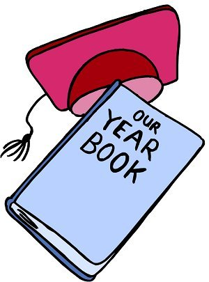 Student tries to recall. Yearbook clipart clip royalty free download