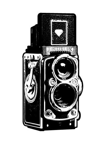 Yearbook clipart fancy camera. Vintage illustration fine art