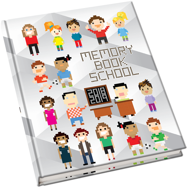 Yearbook clipart information book. Covers pixels